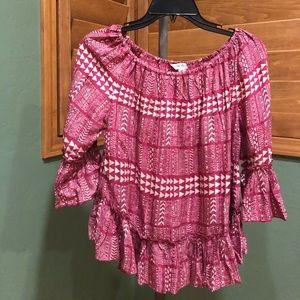 Lucky Brand ruffle blouse